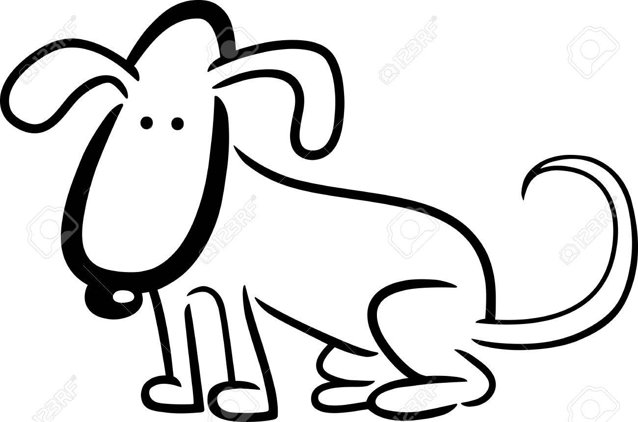 De Dibujos Animados Dibujo Ilustración De Perro O Cachorro De Libro ...