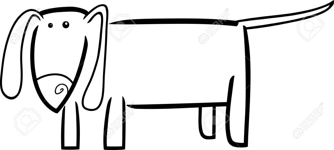 Ilustración Del Doodle De Dibujos Animados De Perro O Cachorro Para ...