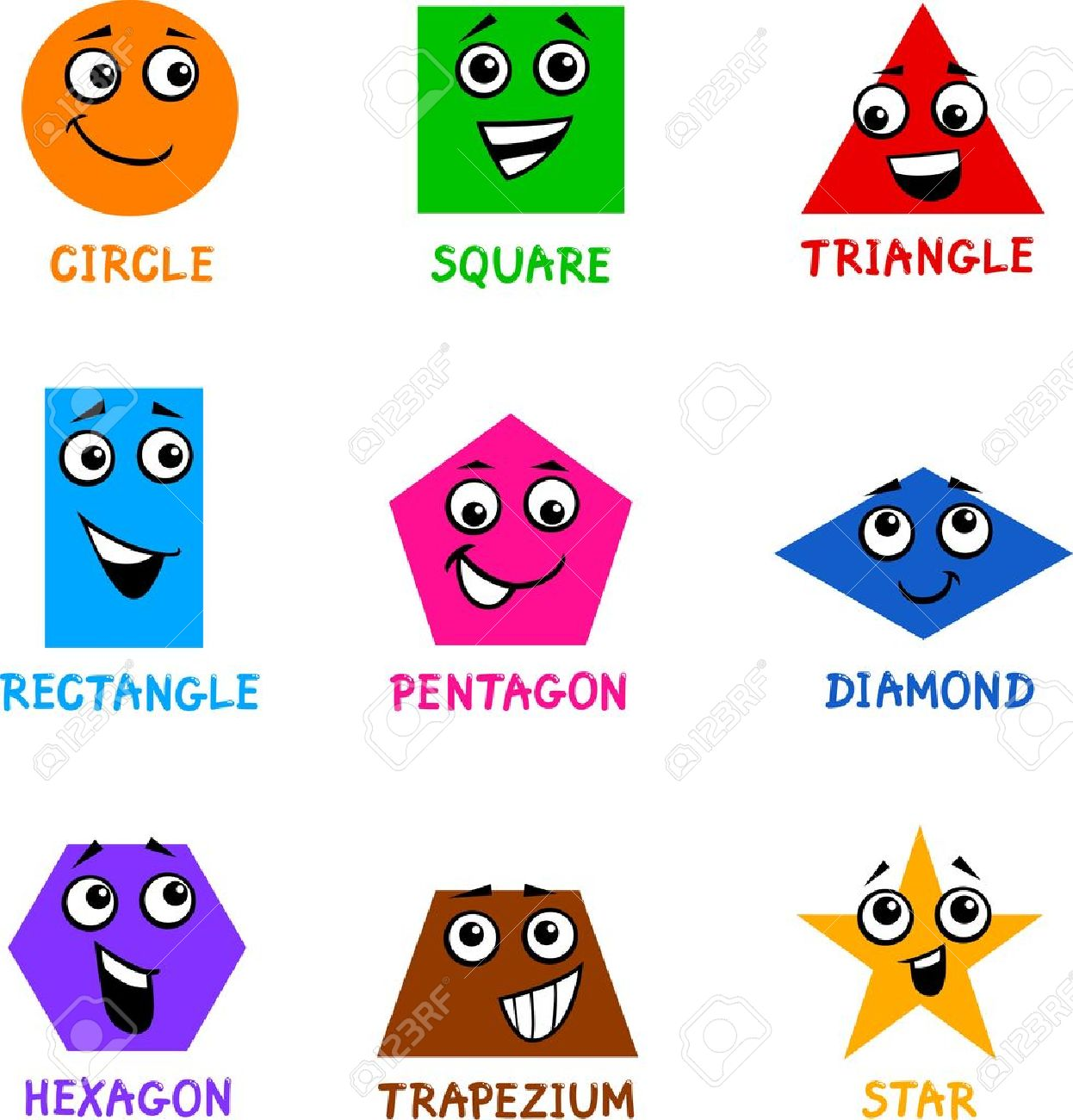 Image result for cartoon shapes