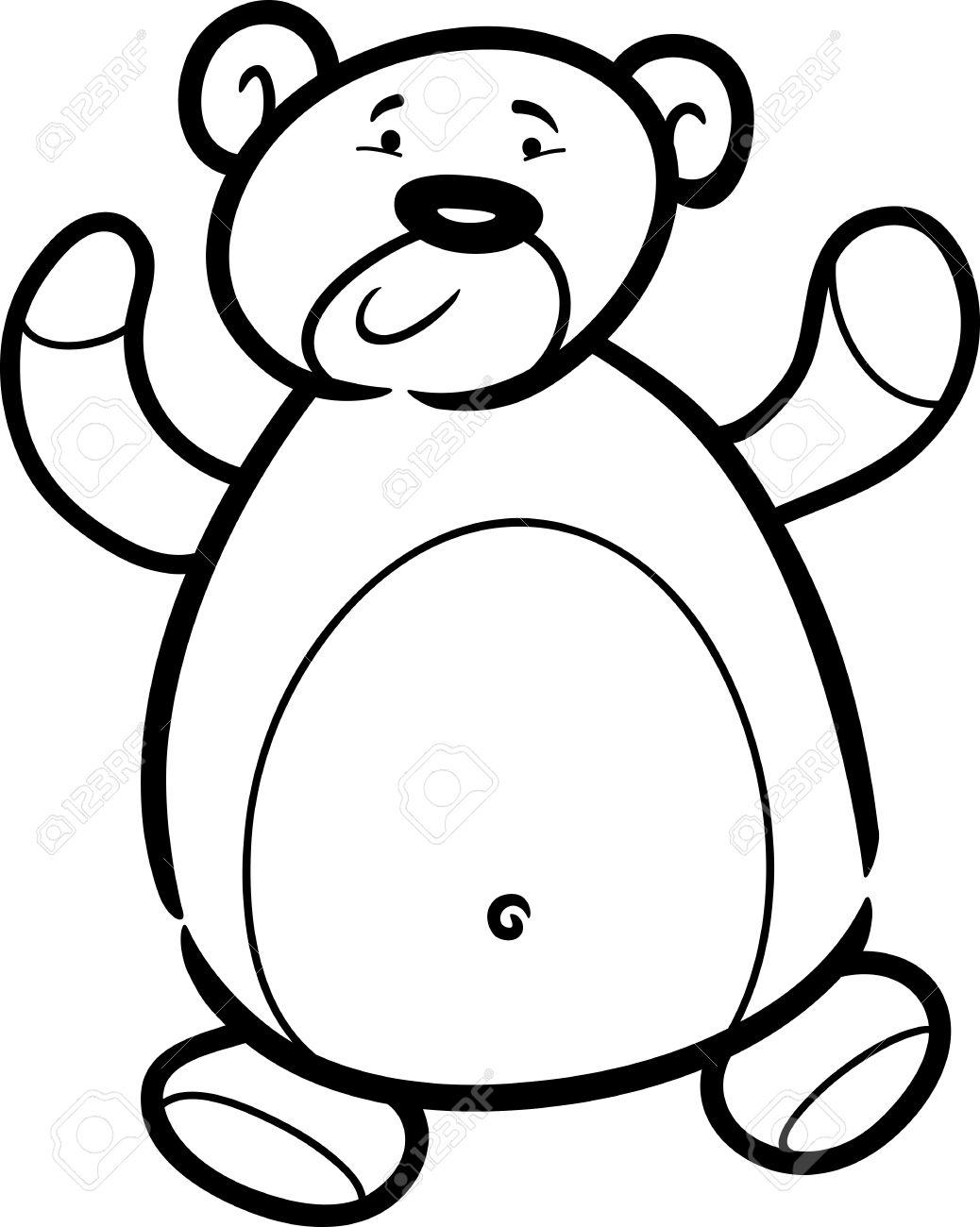 Cartoon Illustration Von Cute Teddy Bear Spielzeug Für Malbuch ...