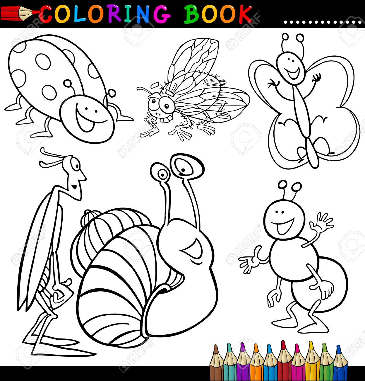 Asombroso Insecto Volador Para Colorear Ideas - Enmarcado Para ...