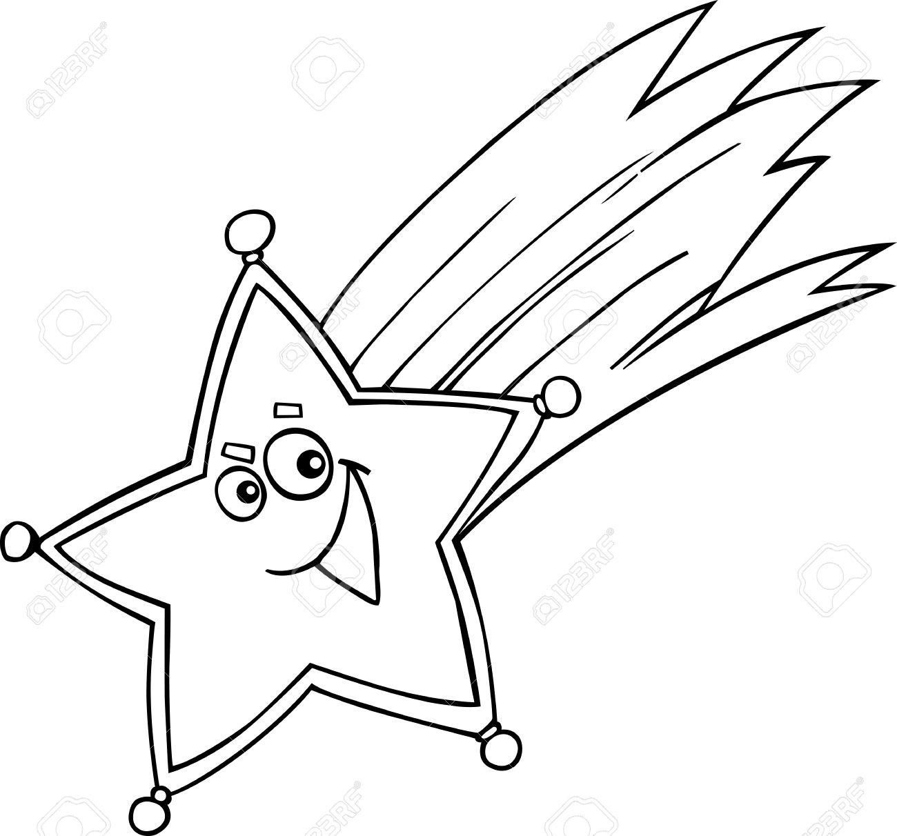Ilustración De Dibujos Animados De Navidad Estrella De Libro Para Colorear O Página