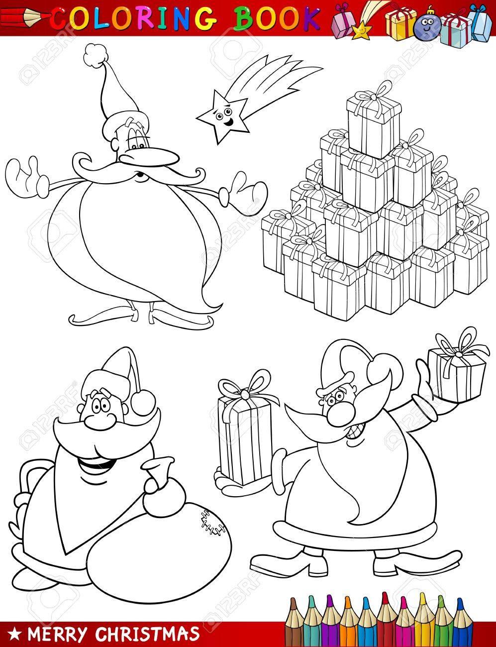 Encantador Papá Noel Para Colorear Páginas Para Niños Foto - Dibujos ...