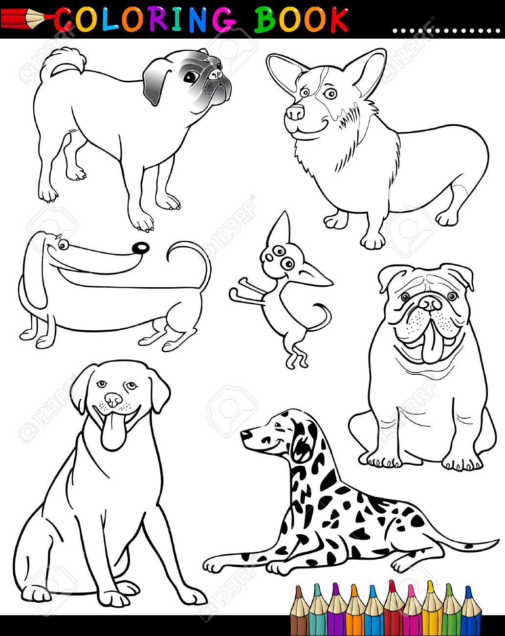 Libro Para Colorear O Ilustración De Dibujos Animados Divertidos ...