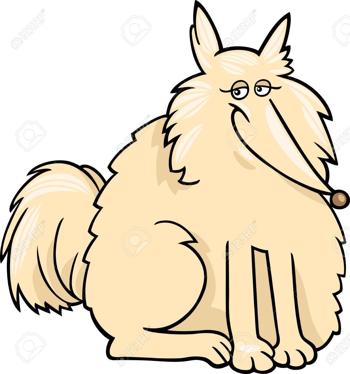 Cartoon Illustration of Funny Purebred Eskimo Dog or Spitz Stock Vector - 16452314