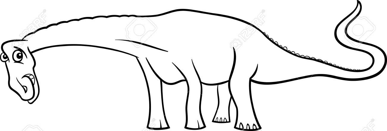 Ilustración De Dibujos Animados De Especies Diplodocus Del ...