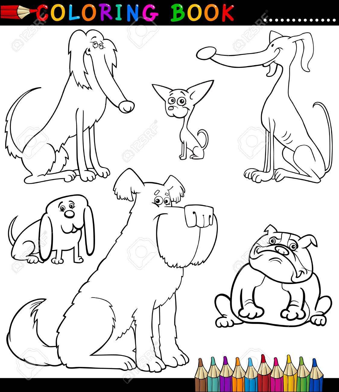 Coloring Book O Página Para Colorear De Dibujos Animados Ilustración ...