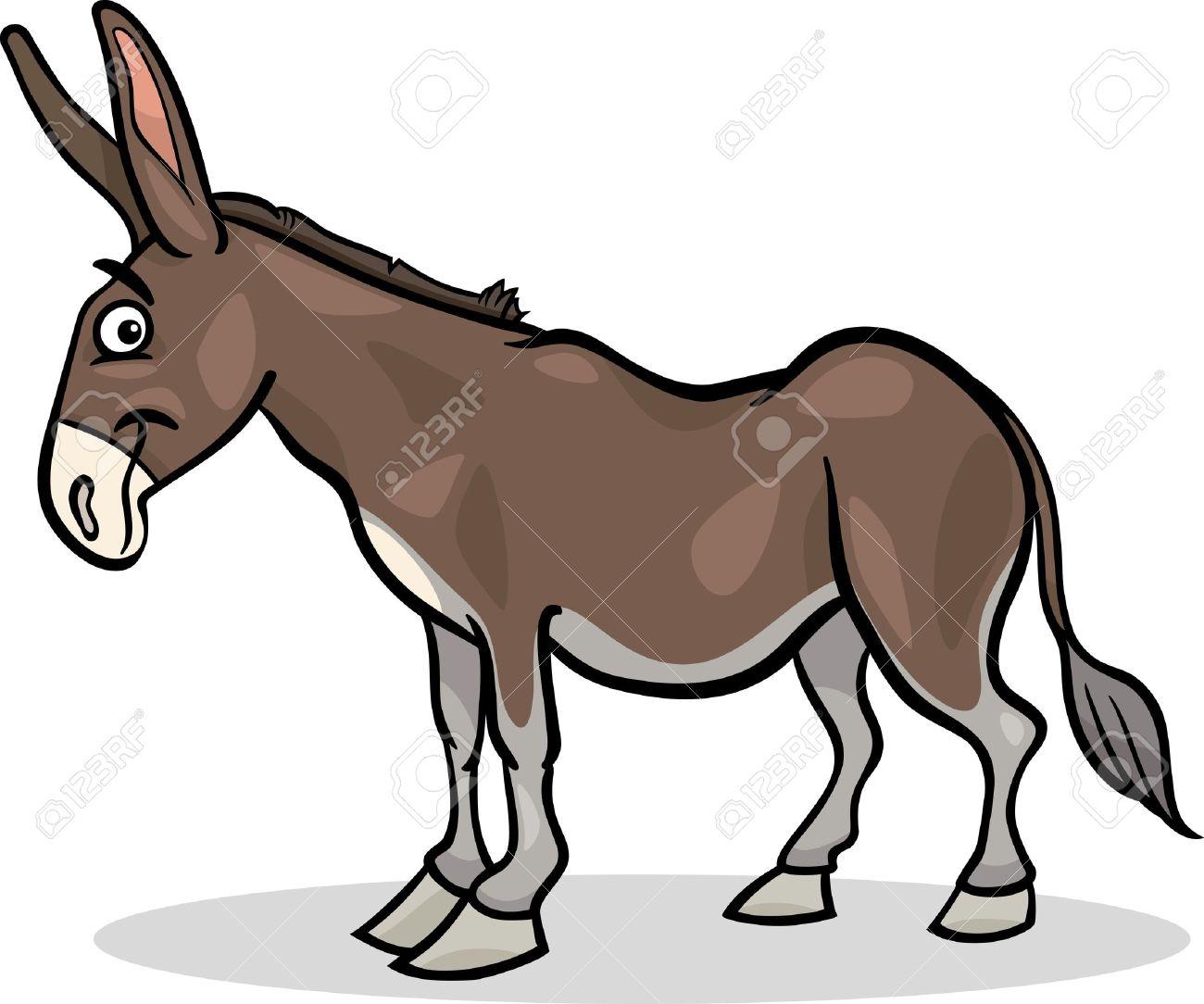Illustration De Dessin Animé Des Animaux âne Funny Farm Clip Art