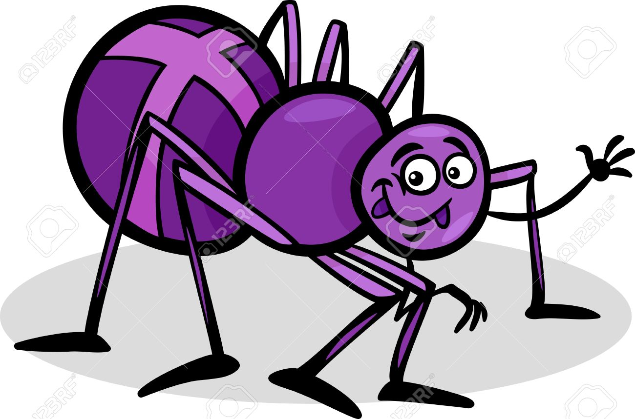 cartoon illustration of funny cross spider insect royalty free