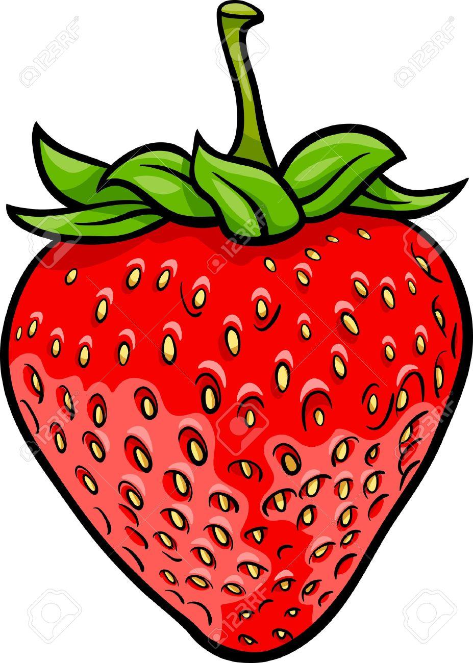Illustration De Dessin Anime De Fraise Fruit Objet De Nourriture