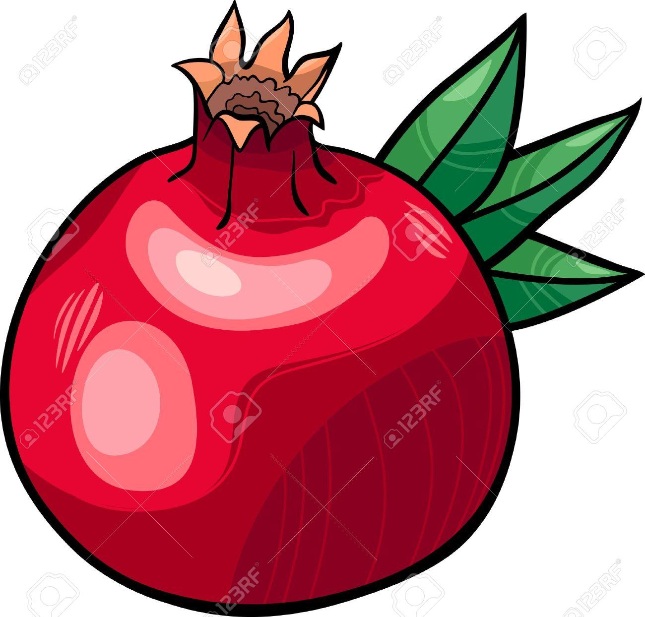 cartoon illustration of pomegranate fruit food object royalty free rh 123rf com pomegranate clipart pomegranate clipart free