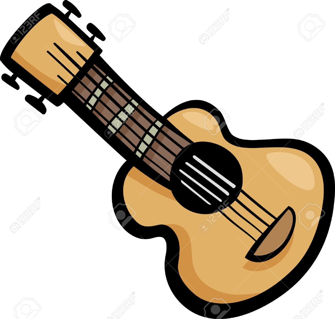 cartoon illustration of acoustic guitar ear clip art royalty free rh 123rf com clipart guitare gratuit clip art guitar singer