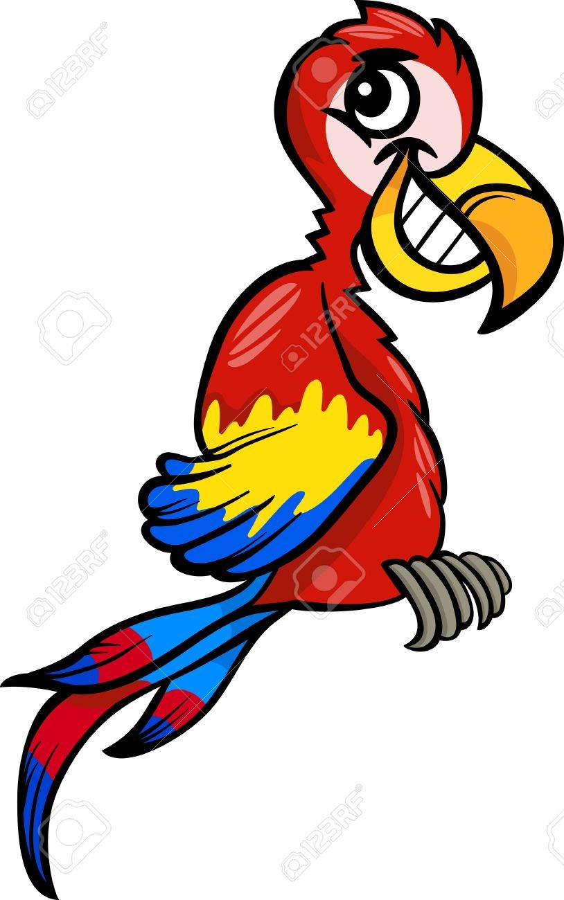 cartoon illustration of funny macaw parrot bird clip art royalty rh 123rf com macaw clipart free macaw clipart