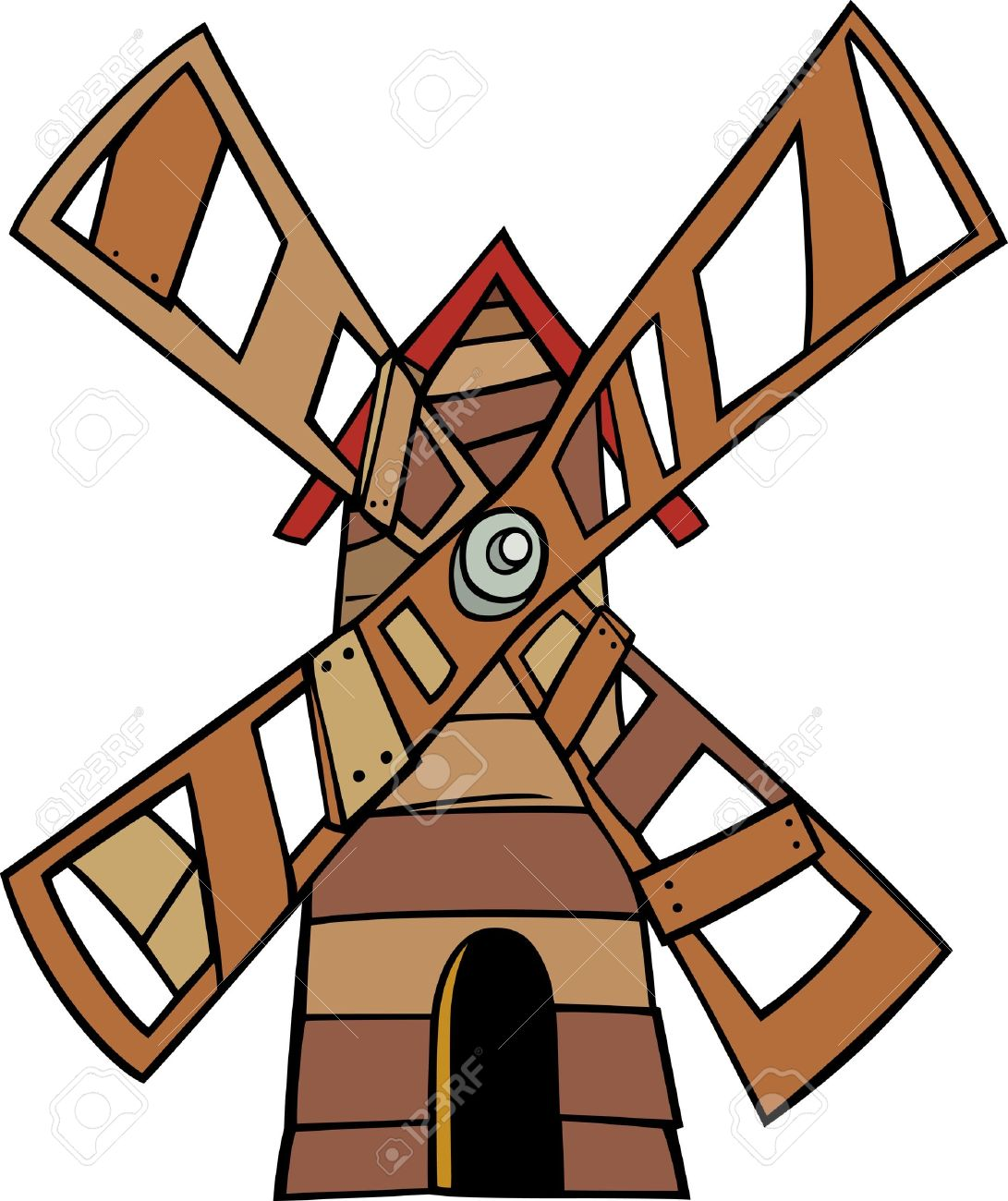 Clip Art Windmill Clipart cartoon illustration of wooden windmill clip art royalty free stock vector 21435357