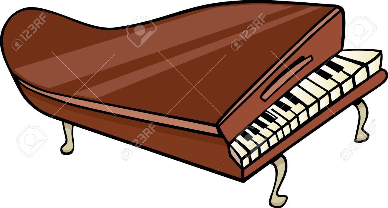 cartoon illustration of piano or grand piano clip art royalty free rh 123rf com  grand piano clipart black and white