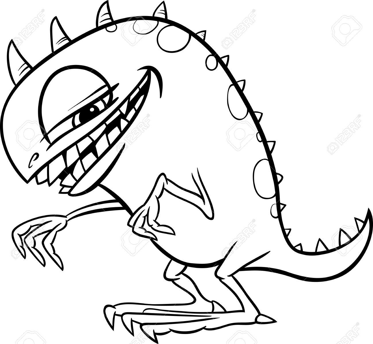 Famoso Caracteres Altos Monstruo Para Colorear Regalo - Enmarcado ...