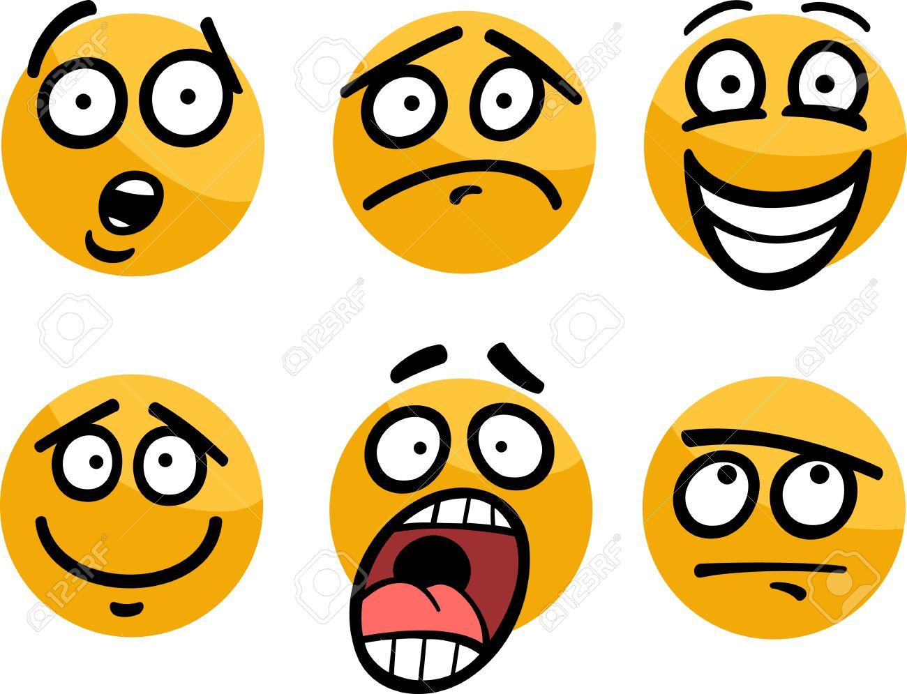 Ilustración De Dibujos Animados De Emoticon O Emociones Y
