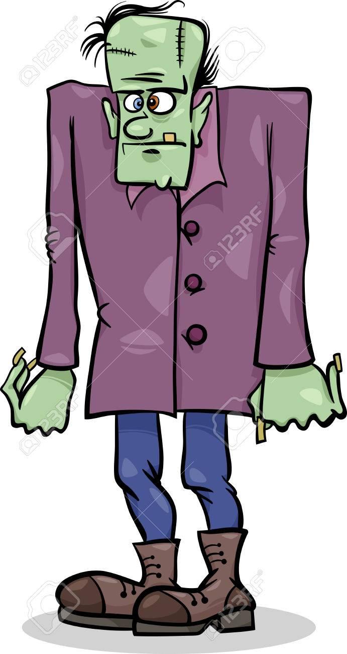 Cartoon Illustration of Spooky Halloween Frankenstein Monster Stock Vector - 22300304