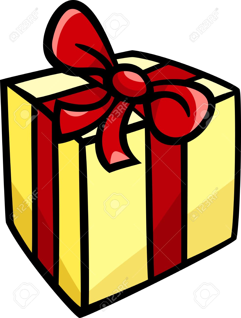 Ilustración De Dibujos Animados De Navidad O Presente O Regalo De