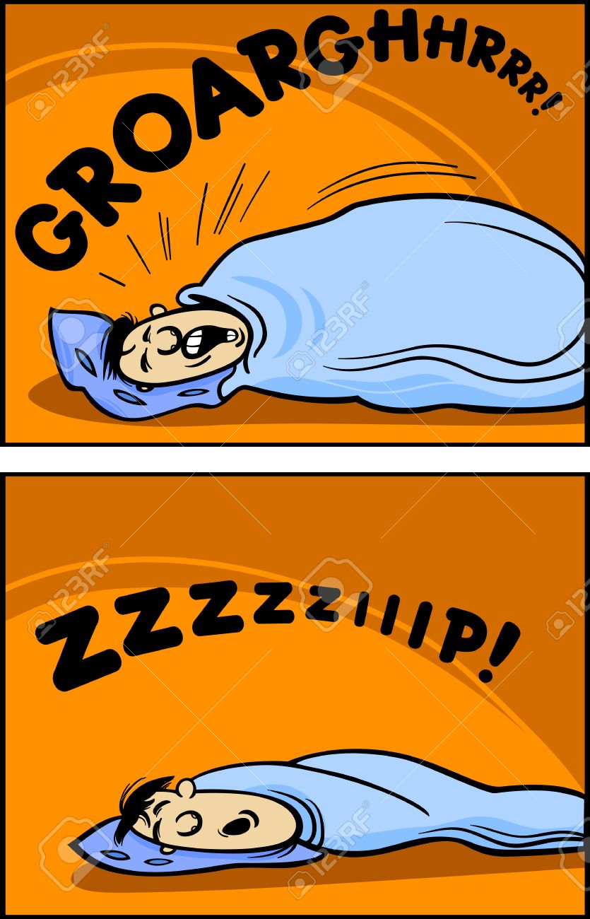 Cartoon Concept Illustration Of Funny Snoring Sleeping Man Royalty Free Cliparts Vectors And Stock Illustration Image 22964837