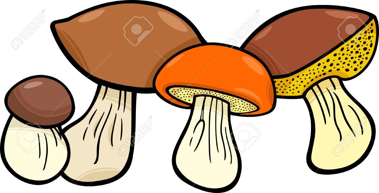 cartoon illustration of mushrooms food objects group royalty free rh 123rf com mushrooms cartoon png mushroom cartoon drawings