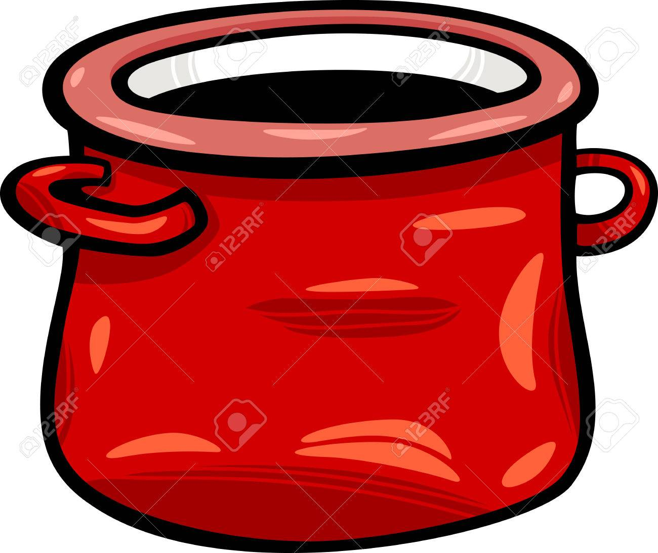 cartoon illustration of red jar or pot clip art royalty free rh 123rf com pot clipart clipart pot de peinture