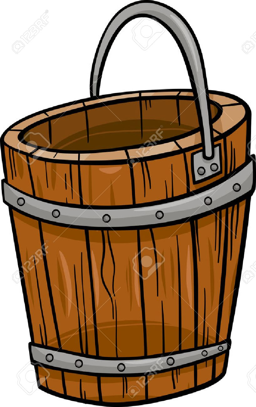 Wooden Bucket Stock Illustrations Cliparts And Royalty Free