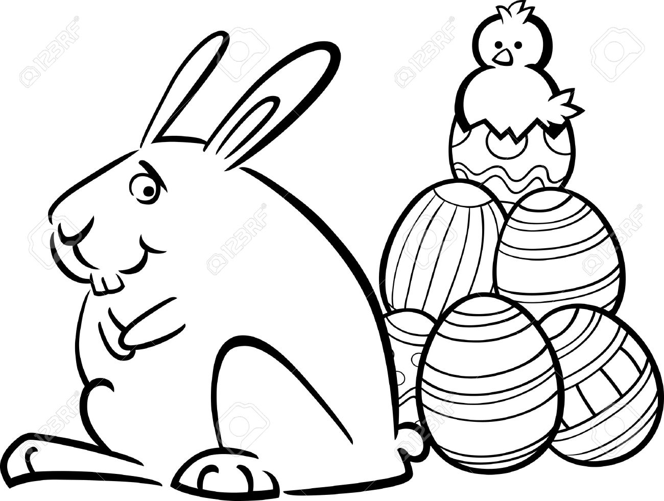 942 easter coloring page stock illustrations cliparts and royalty