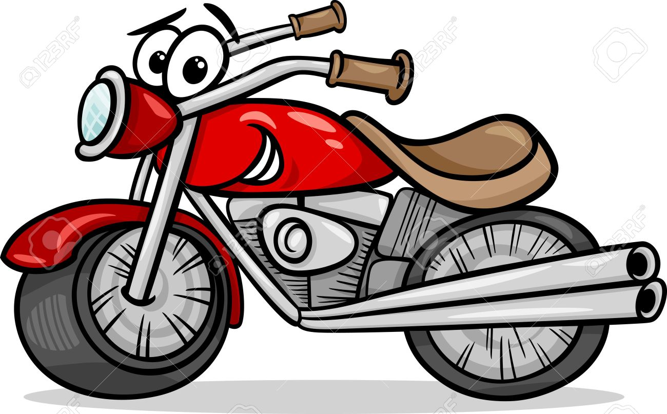 5,061 Motorcycle Cartoon Cliparts, Stock Vector And Royalty Free ...