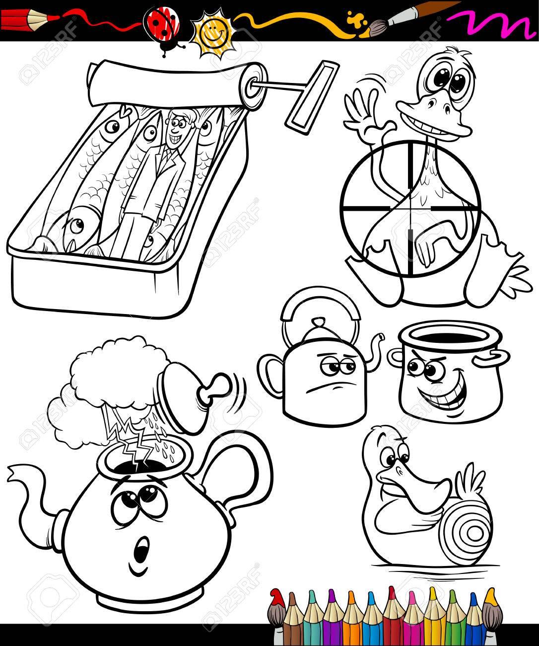Set Von Schwarz Weiß Sprüche Oder Sprüche Für Kinder