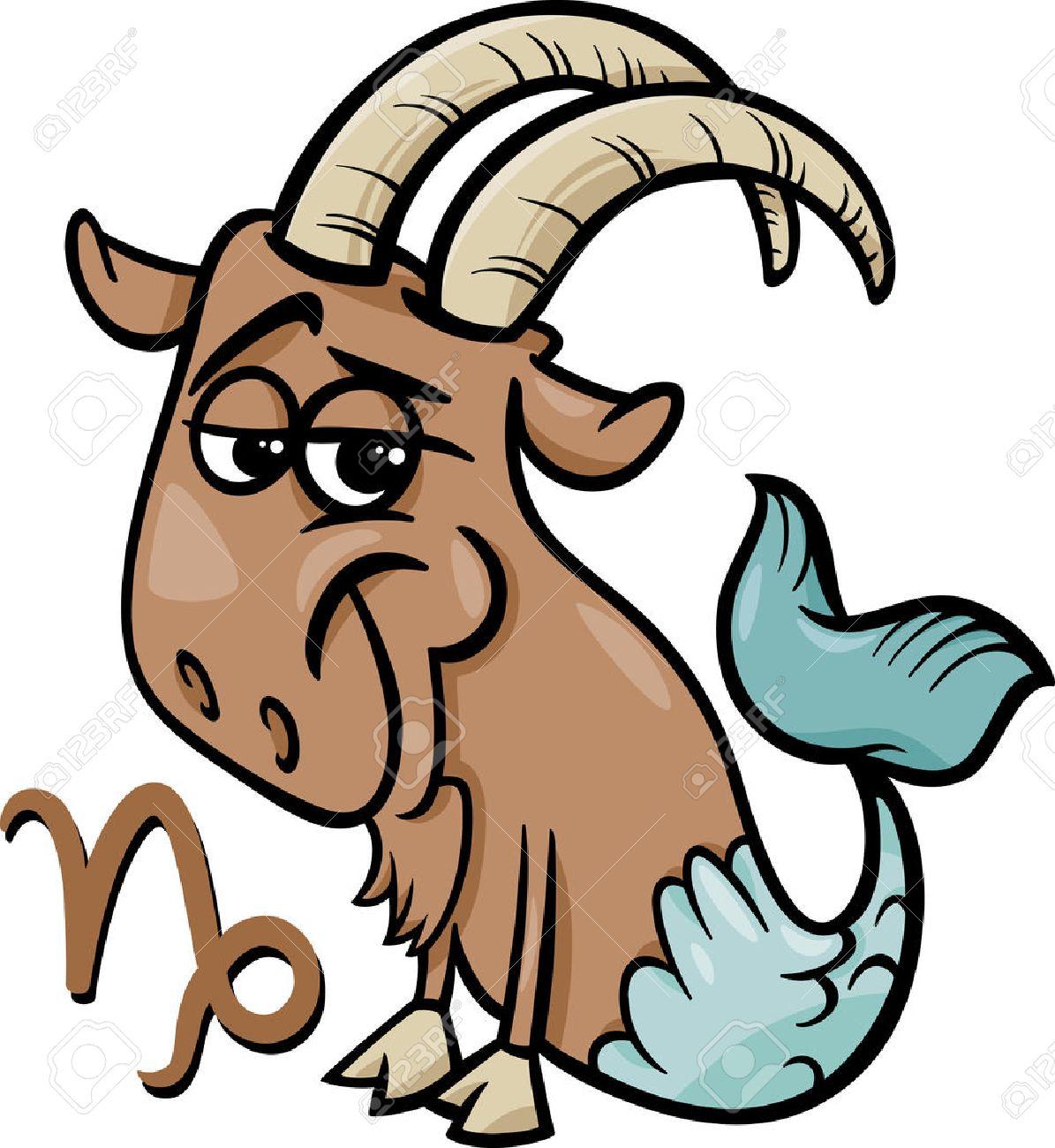 山羊座や海ヤギ星座星座の漫画イラストのイラスト素材ベクタ Image