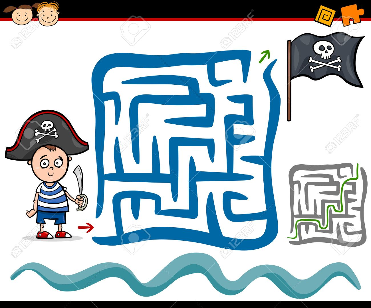 2 324 pirate kids cliparts stock vector and royalty free pirate