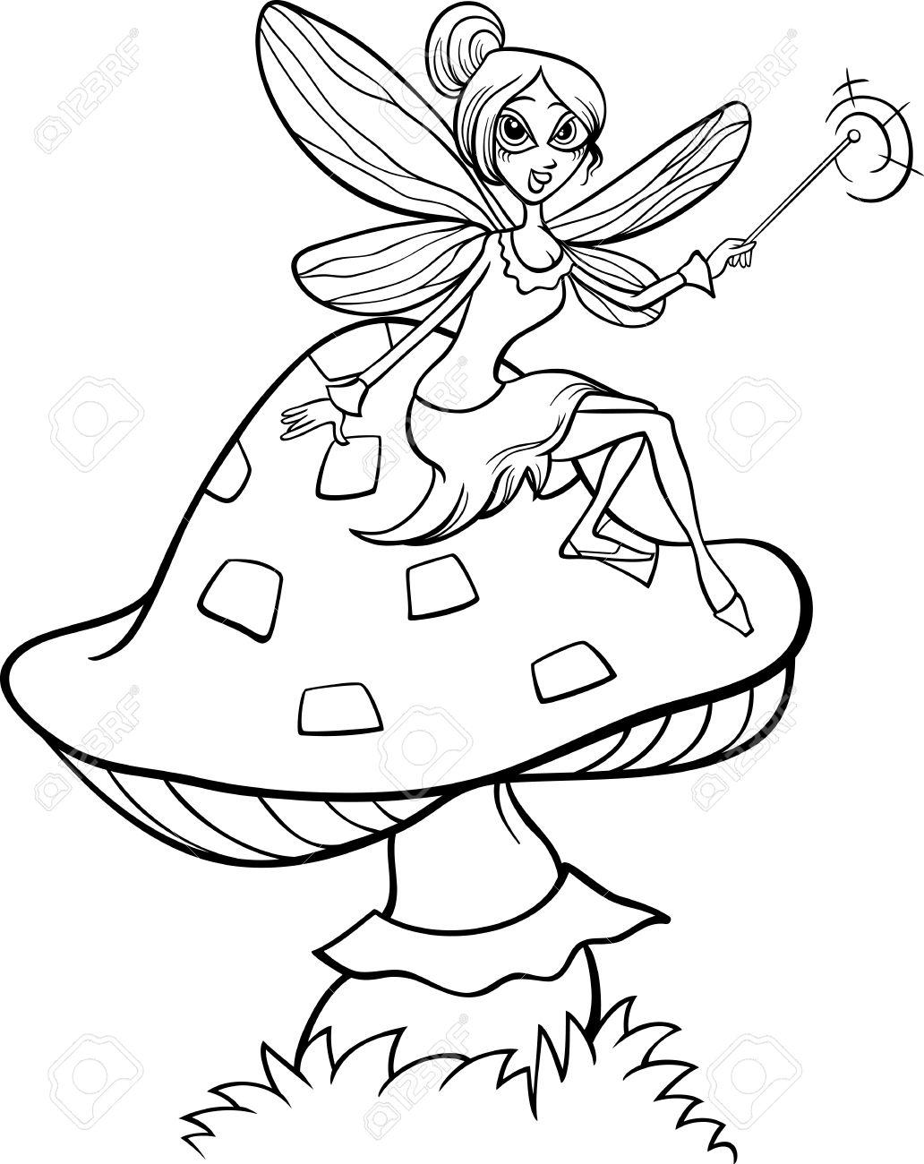 Fairy Illustration Black And White Download Illustration 2020