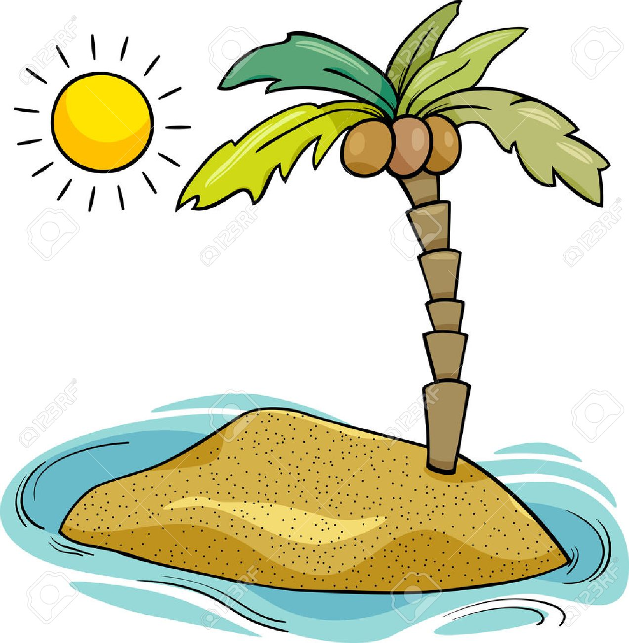 cartoon illustration of desert island with coconut palm royalty free rh 123rf com desert clip art animals for diorama desert clip art animals for diorama