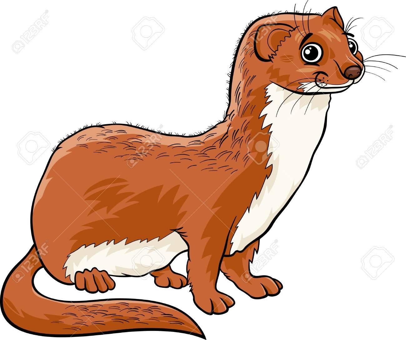 かわいいイタチ動物の漫画イラストのイラスト素材ベクタ Image 29032460