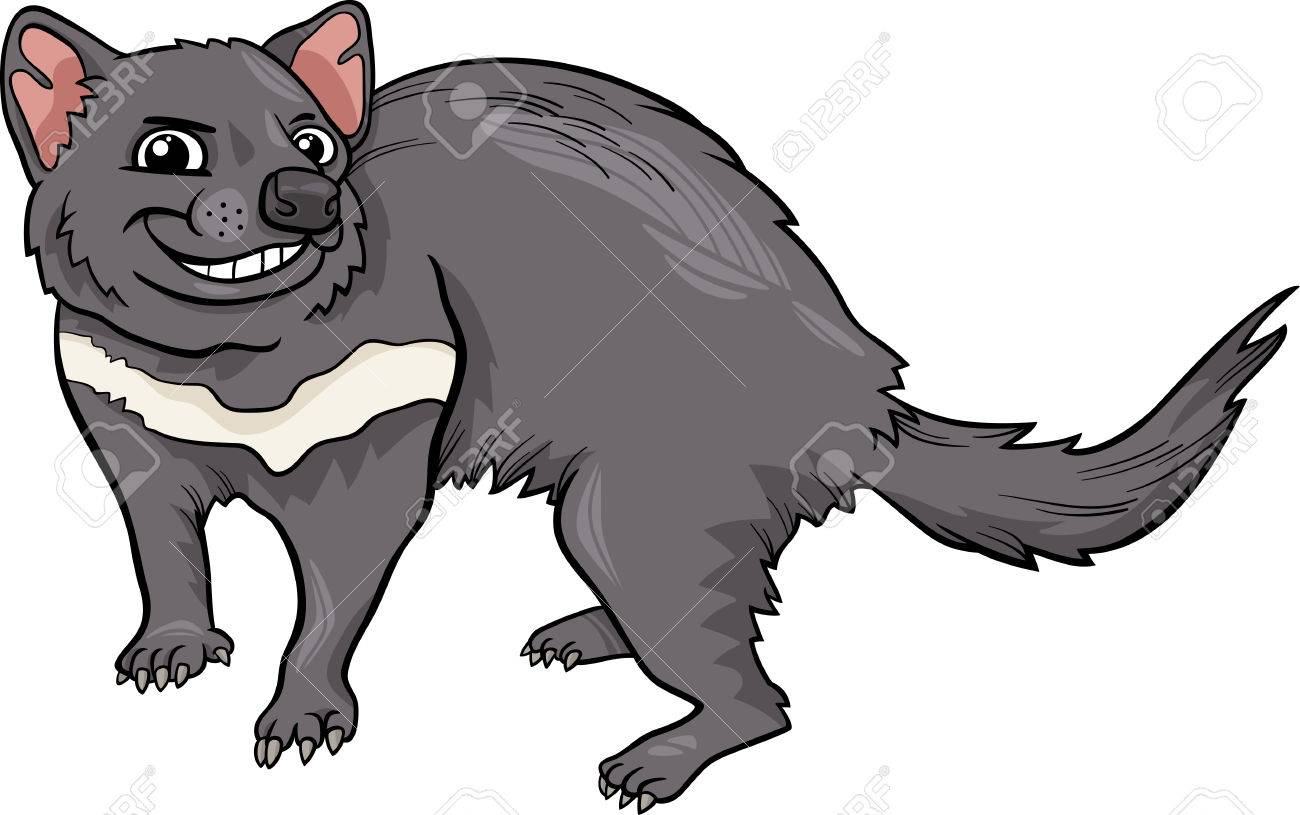 cartoon illustration of funny tasmanian devil marsupial animal rh 123rf com tasmanian devil clipart free Cute Tasmanian Devil