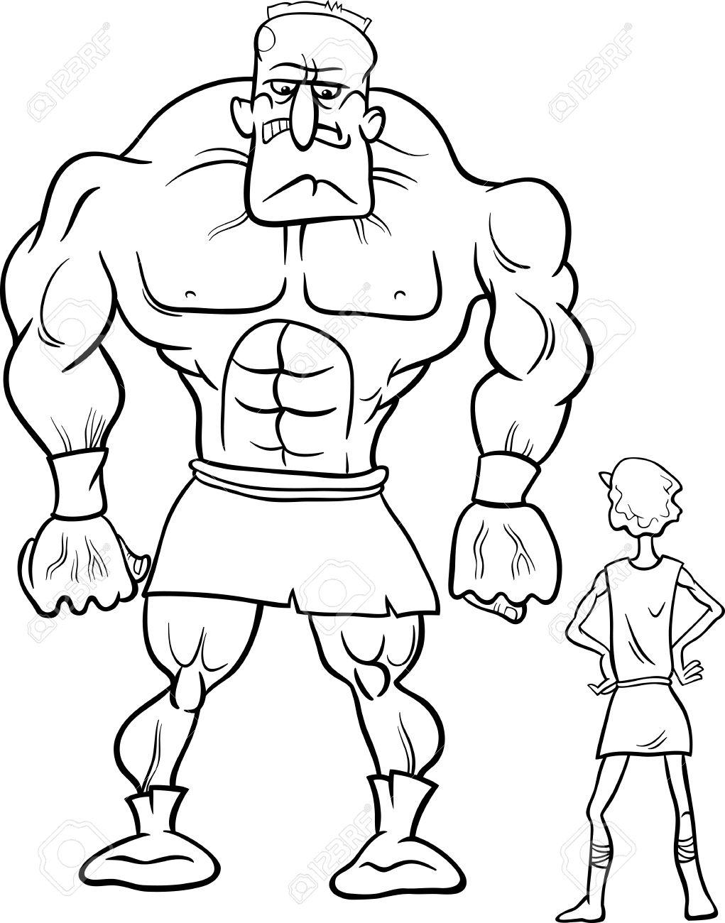 Concepto De Dibujos Animados De Blanco Y Negro Ilustración De David ...