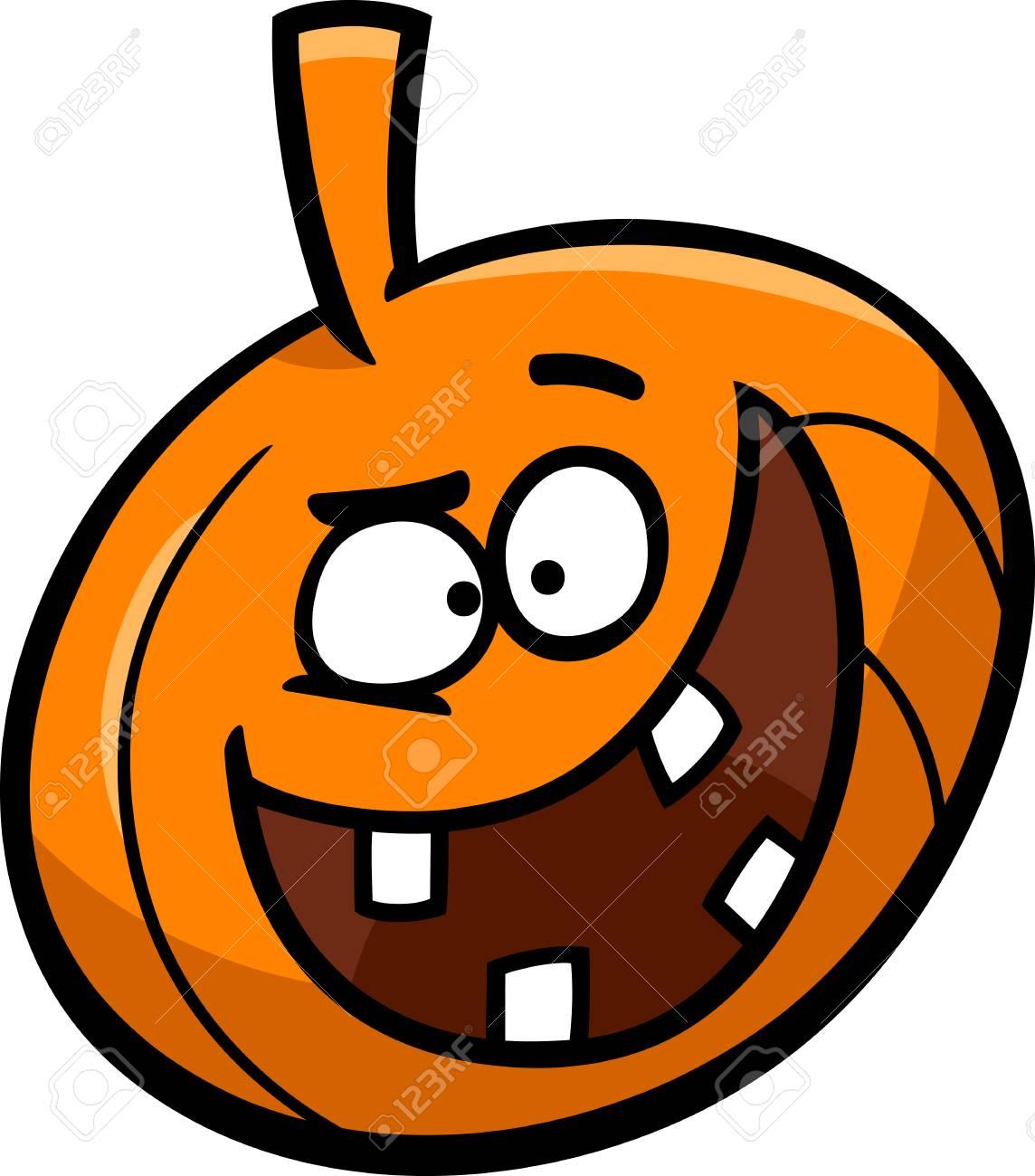 Halloween Pumpkin Images Clip Art.Cartoon Illustration Of Funny Halloween Pumpkin Clip Art