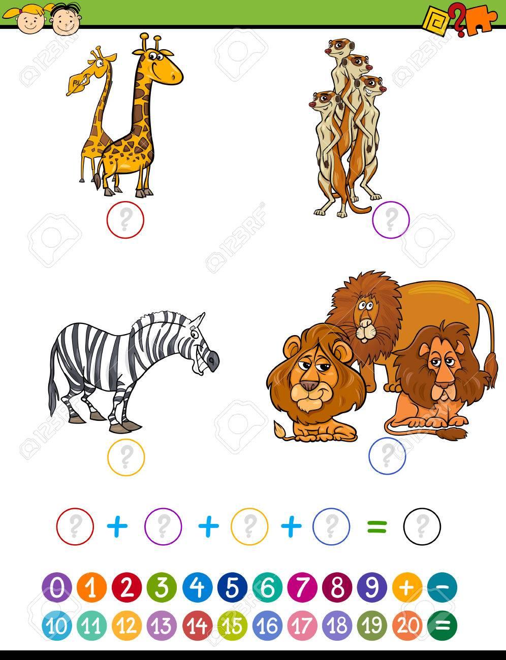 Ejemplo De La Historieta De Educación Matemática Adición De Tareas ...