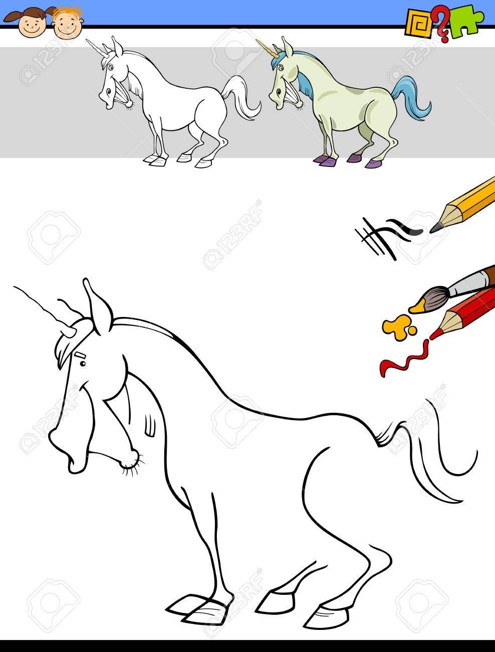 Cartoon Illustration Von Zeichnen Und Malen Erzieherische Aufgabe