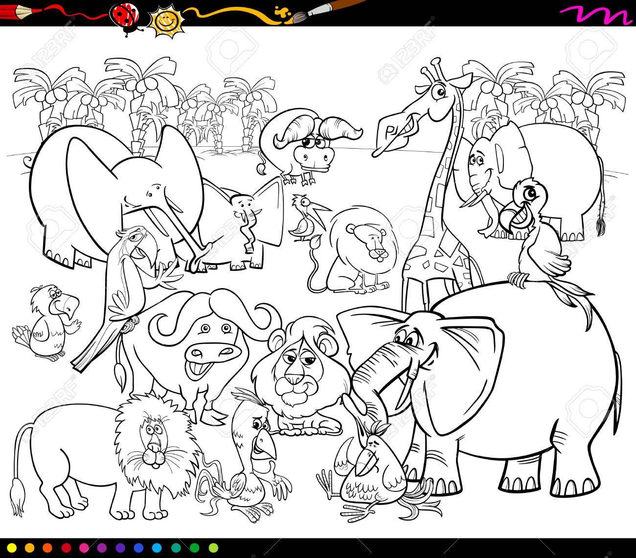 Parte Superior Dibujos De Animales En Blanco Para Colorear