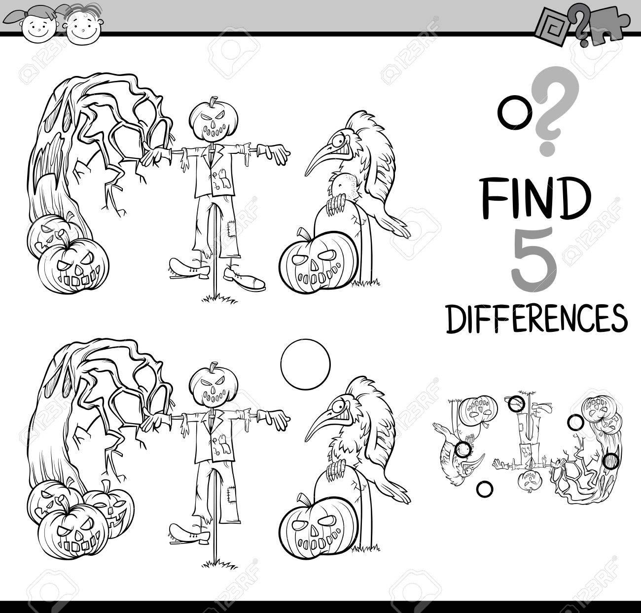 Dibujos Animados De Blanco Y Negro Ilustración De Encontrar ...