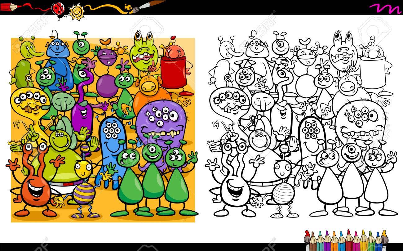 Ilustración De Dibujos Animados De Caracteres Extranjeros Para ...