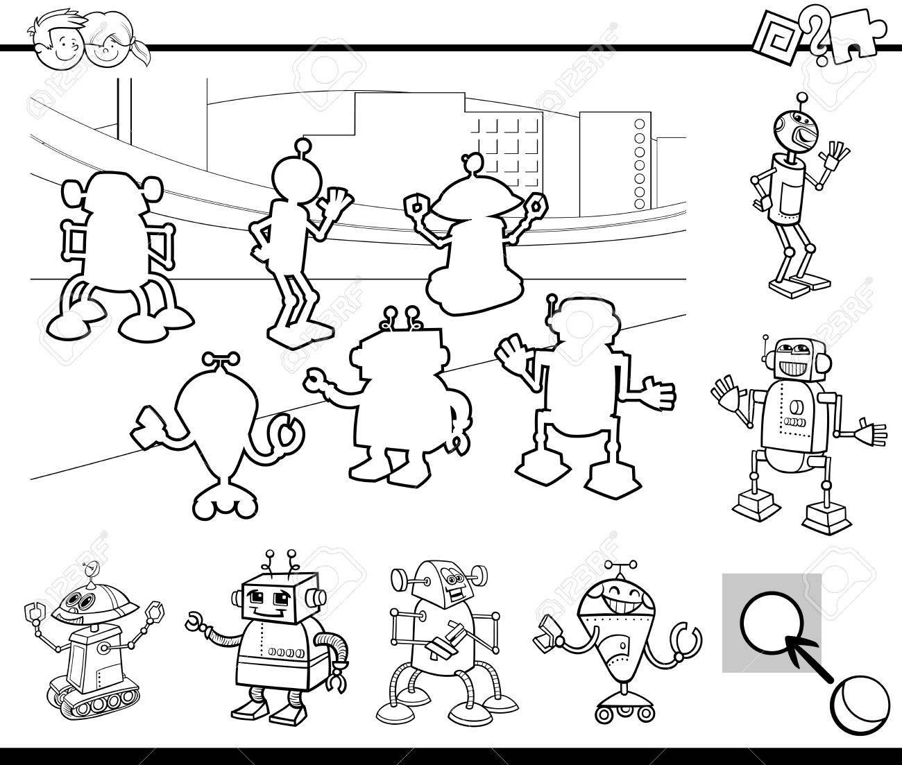Ilustración De Dibujos Animados En Blanco Y Negro De Tareas De ...