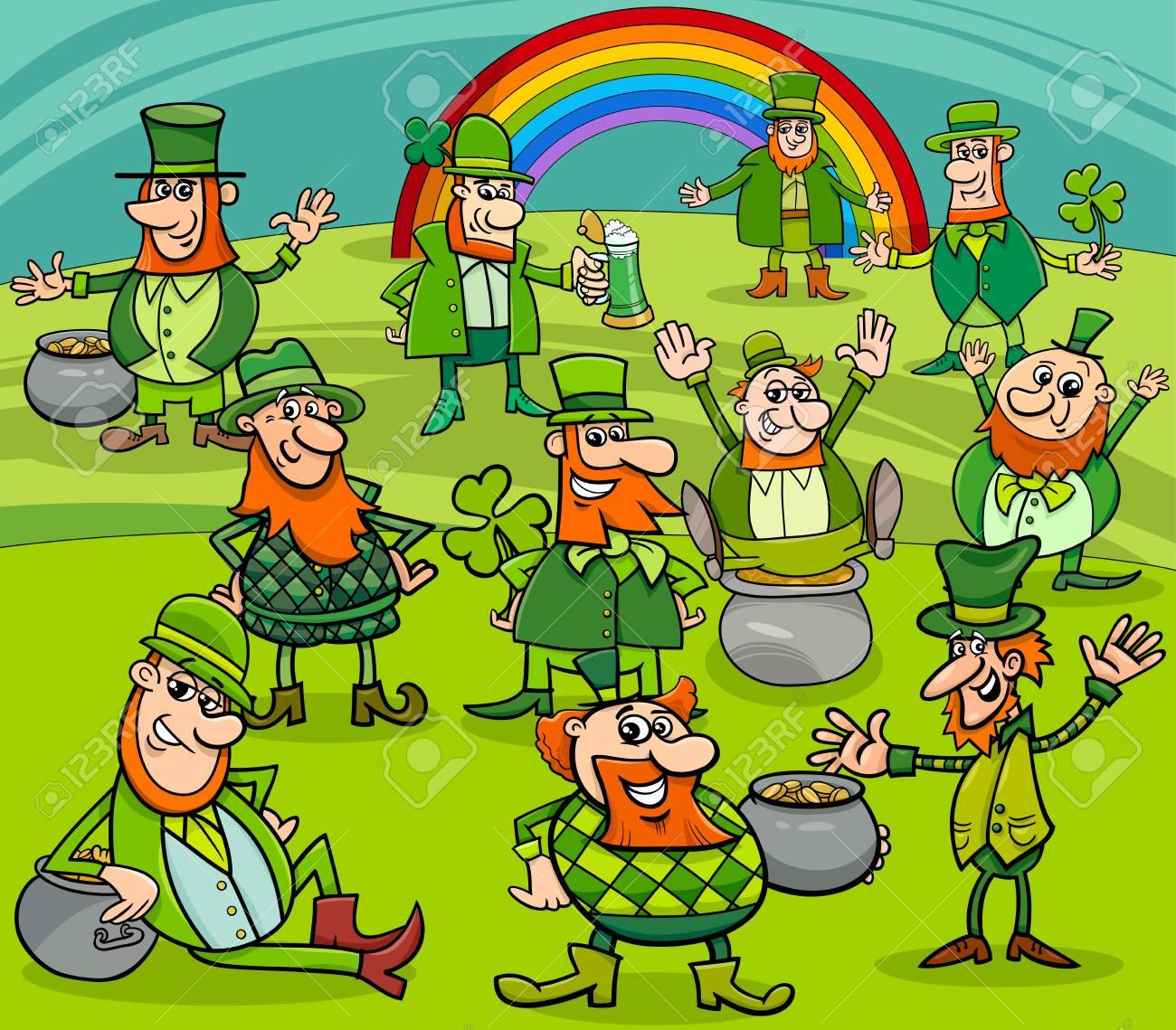 Dibujos Animados Ilustración De Leprechaun Y Día De San Patricio ...