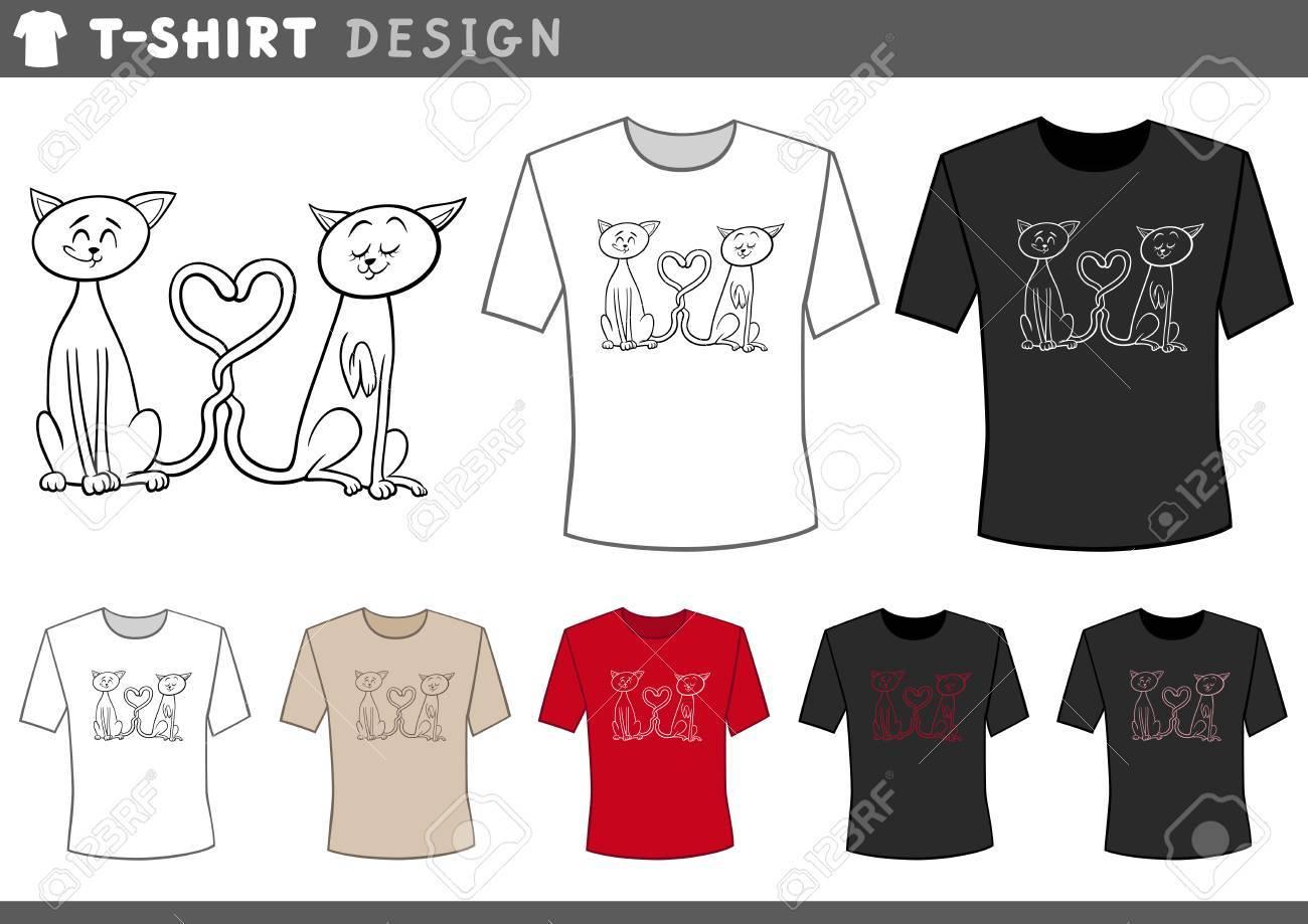Couple Shirt Design Template