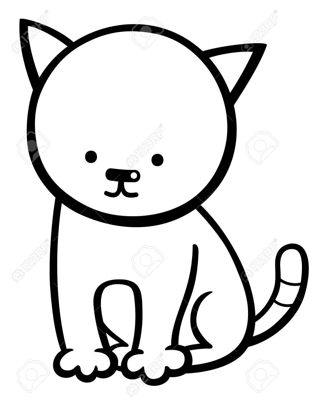 Atemberaubend Katze In Den Hut Zeichen Malvorlagen Zeitgenössisch ...