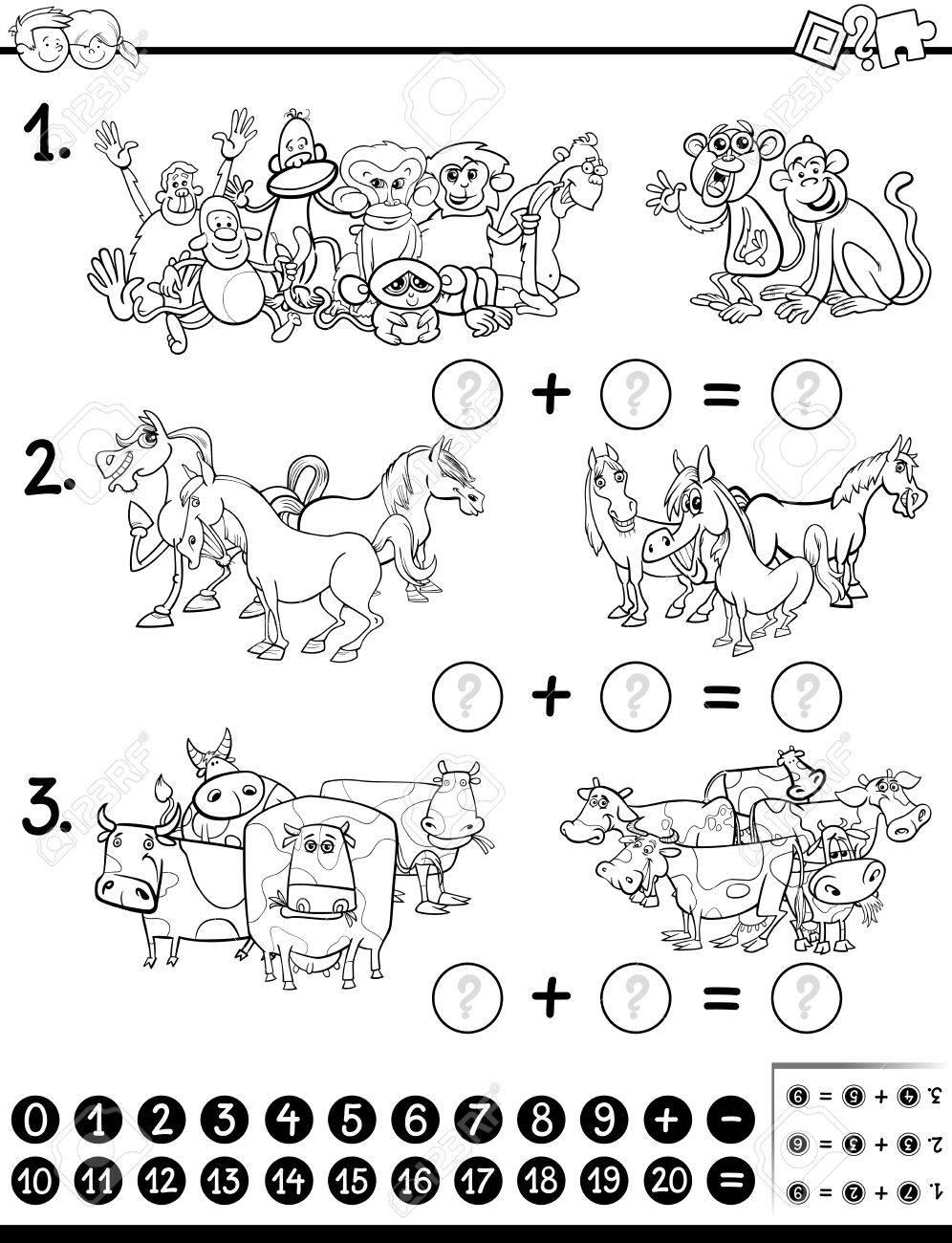 Ilustración De Dibujos Animados En Blanco Y Negro Del Juego ...