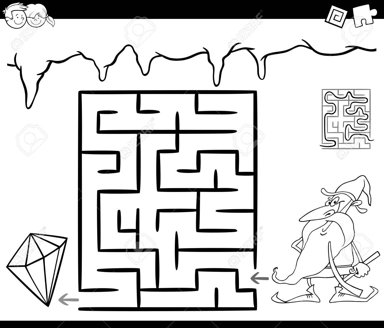 Ausgezeichnet Kindergarten Labyrinth Arbeitsblatt Ideen - Super ...