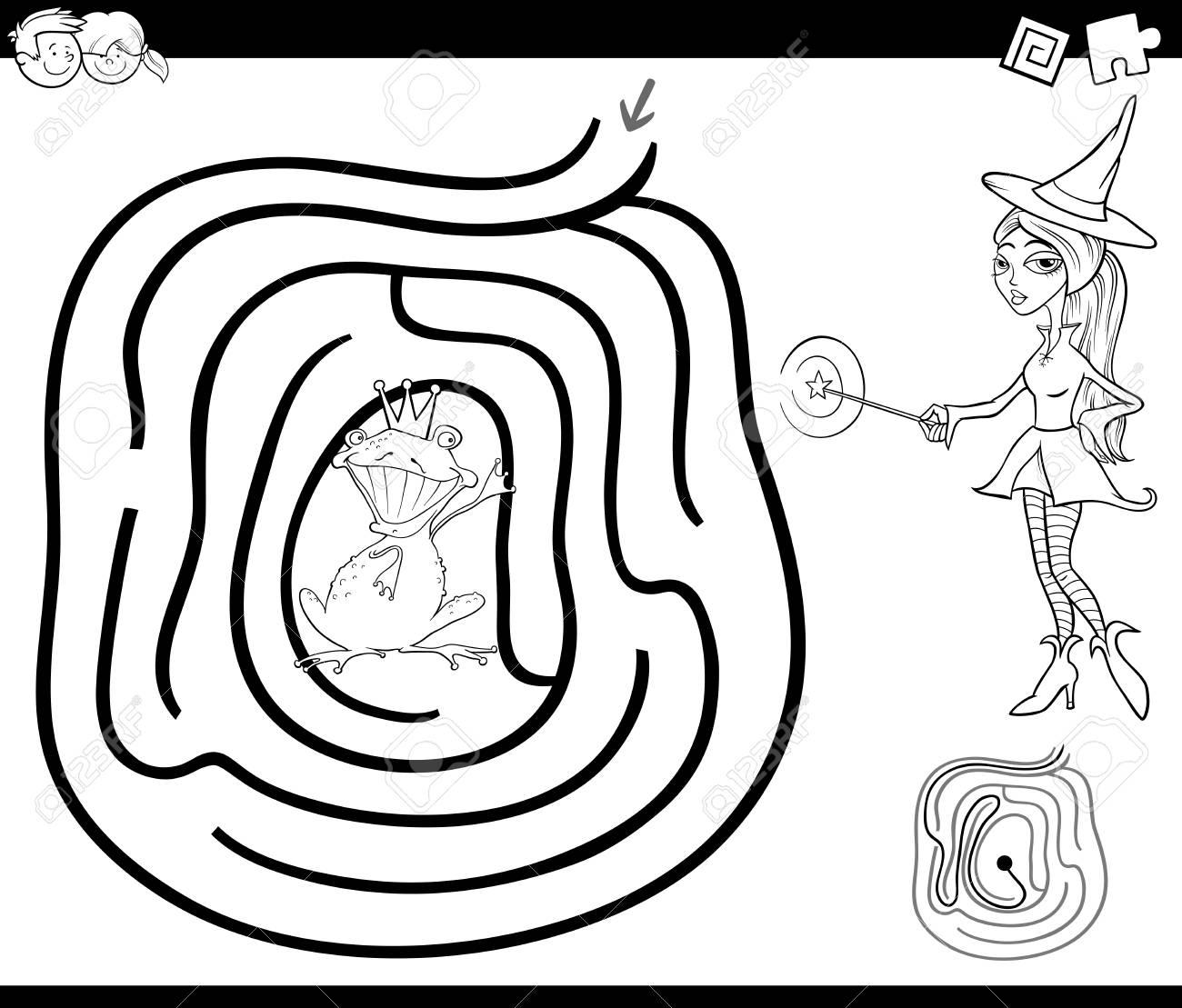 Ilustración De Dibujos Animados En Blanco Y Negro De La Educación ...